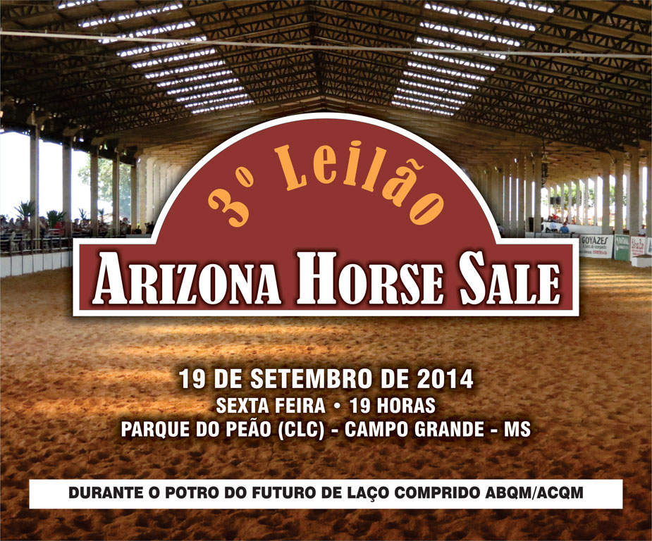 3º LEILÃO ARIZONA HORSE SALE